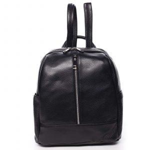 Dámský kožený batoh černý – ItalY Lissetta černá