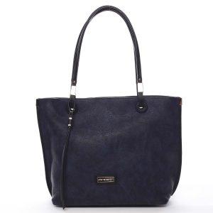 Luxusní dámská kabelka šedá modrá – Pierre Cardin Comtesa barevná