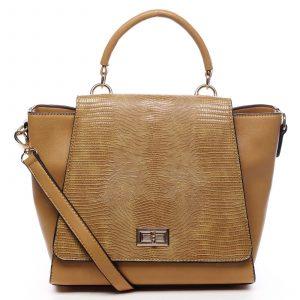 Dámská kabelka do ruky žlutá – Dudlin Mirla žlutá
