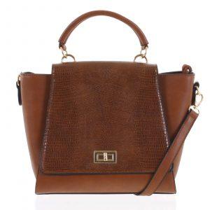 Dámská kabelka do ruky světle hnědá – Dudlin Mirla hnědá