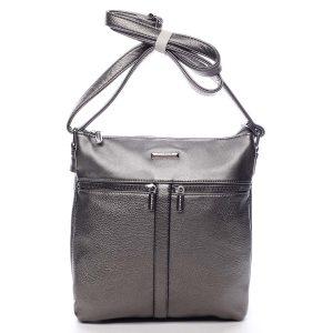 Dámská crossbody kabelka stříbrná – Silvia Rosa Jersey stříbrná