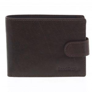 Pánská kožená peněženka tmavě hnědá – SendiDesign Mheo hnědá