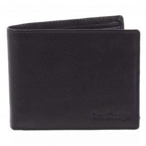 Pánská kožená peněženka černá – SendiDesign Maty černá