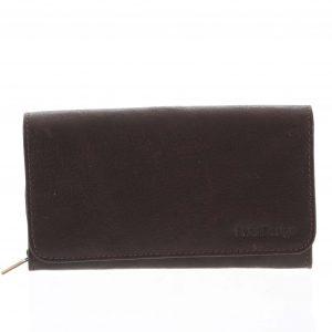 Dámská kožená peněženka tmavě hnědá – SendiDesign Really hnědá