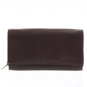 Dámská kožená peněženka tmavě hnědá – SendiDesign Zimbie hnědá