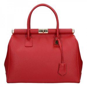 Dámská kožená kabelka Delami Bonny – červená