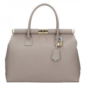 Dámská kožená kabelka Delami Bonny – šedá