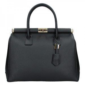 Dámská kožená kabelka Delami Bonny – černá