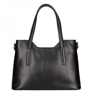 Dámská kožená kabelka Vera Pelle Petra – černá