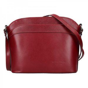 Dámská kožená kabelka Vera Pelle Tinna – tmavě červená