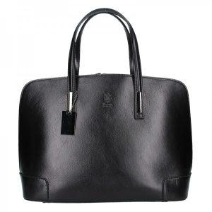 Dámská kožená kabelka Vera Pelle Leona – černá