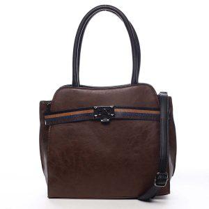 Dámská kabelka přes rameno tmavě hnědá – Maria C Shelsia hnědá