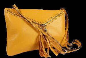 Italské kožené kabelky Maida Gialla Filati Nera