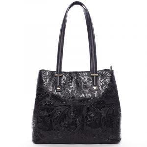 Exkluzivní dámská kožená kabelka černá – ItalY Logistilla černá