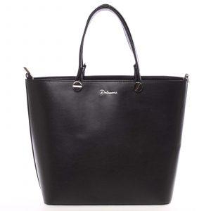 Luxusní dámská kabelka černá hladká – Delami Chantal černá