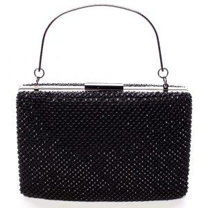 Luxusní dámské psaníčko černé – Delami V4700 černá