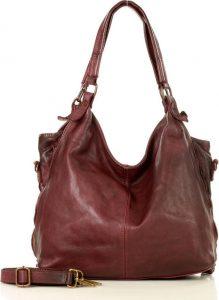 MARCO MAZZINI městská kožená bordó kabelka (v47d) Velikost: univerzální