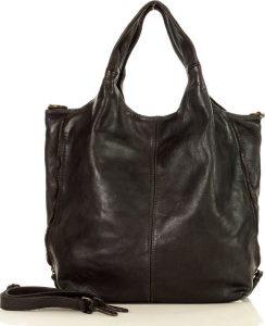 MARCO MAZZINI prostorná shopper kabelka- černá (v48d) Velikost: univerzální