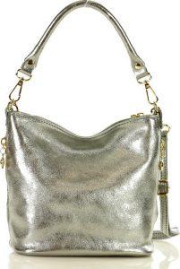 MARCO MAZZINI stříbrná crossbody kabelka (L172j) Velikost: univerzální