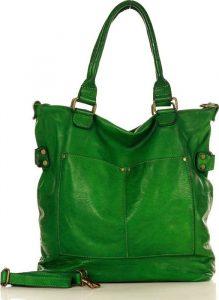 Zelená kožená kabelka MARCO MAZZINI (v7k) Velikost: univerzální
