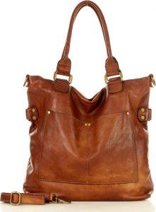 Hnědá kožená kabelka MARCO MAZZINI (v7L) Velikost: univerzální