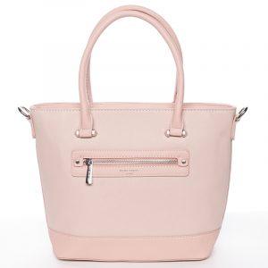 Módní dámská kabelka do ruky růžová saffiano – David Jones Klarisa růžová