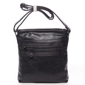 Moderní střední crossbody kabelka černá – Delami Karlie černá