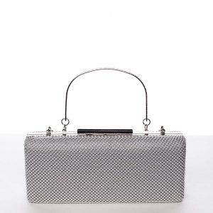 Módní dámské perleťové psaníčko stříbrné – Michelle Moon V8200 stříbrná