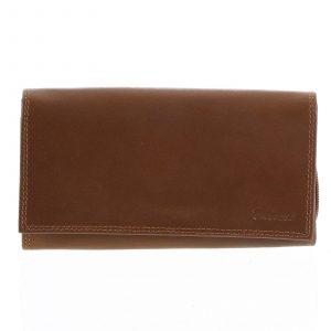 Decentní dámská kožená světle hnědá peněženka – Delami CHAGL03129 hnědá