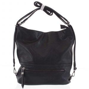 Dámská kabelka batoh černá – Romina Nikka černá
