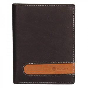 Pánská kožená peněženka Diviley Marco – hnědá