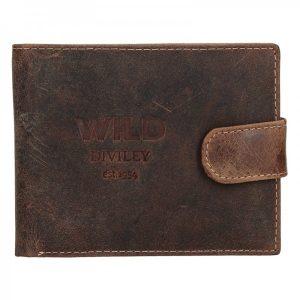 Pánská kožená peněženka Diviley Wild Kamil – hnědá