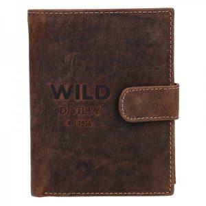 Pánská kožená peněženka Diviley Wild Ernest – hnědá