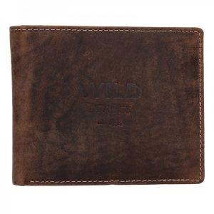 Pánská kožená peněženka Diviley Wild David – hnědá