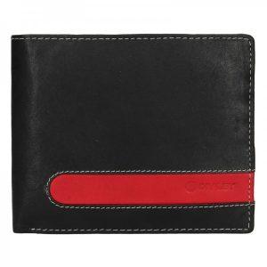 Pánská kožená peněženka Diviley Fabilo – černá