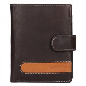 Pánská kožená peněženka Diviley Davide – hnědá