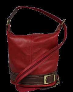 Kožená kabelka crossbody Adele Rossa Scura