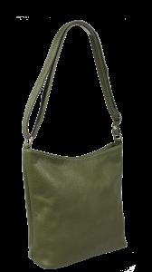 Italská kožená crossbody kabelka Ebe Verde