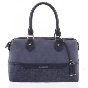 Moderní tmavě modrá dámská kabelka do ruky – David Jones Lorelei modrá