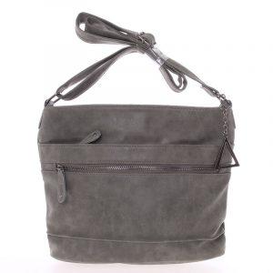Moderní crossbody kabelka tmavě šedá – Just Dreamz Emersyn šedá