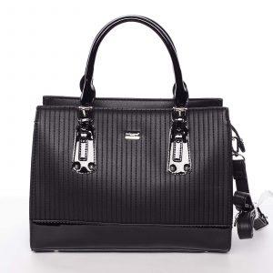 Luxusní černá dámská prošívaná kabelka do ruky – David Jones Pannai černá