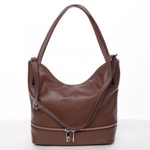Dámská stylová kožená kabelka přes rameno hnědá – ItalY Acness hnědá