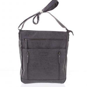 Velká dámská tmavě šedá crossbody kabelka – Enrico Benetti Loffel šedá