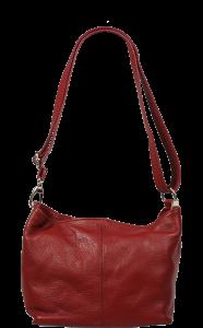 Levná kožená kabelka Batilda Rossa Scura