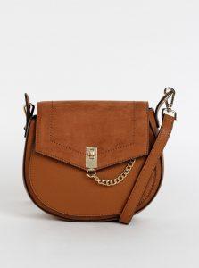 Hnědá crossbody kabelka s detaily v semišové úpravě Dorothy Perkins