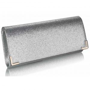 Stříbrné glitterové psaníčko LSE00235 stříbrná