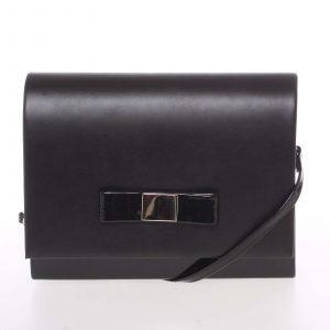 Luxusní dámské psaníčko černé lesklé – Delami Chicago Fresno černá