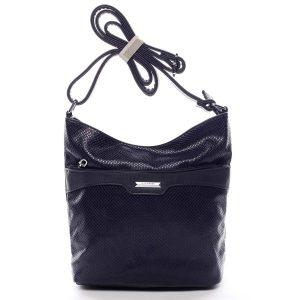 Dámská atraktivní crossbody kabelka tmavě modrá – Silvia Rosa Tanitha Snake modrá