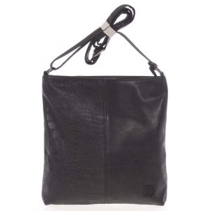 Lehká střední dámská crossbody kabelka černá – Enrico Benetti Aria černá