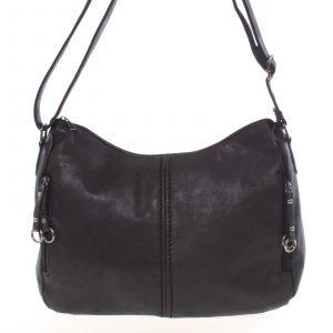 Větší dámská měkká černá kabelka – Piace Molto Leontina černá